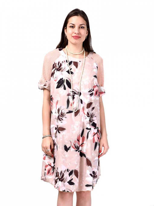 Платье мод. 3466 цвет Бежевый