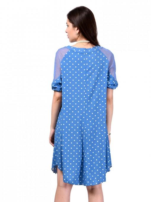 Платье мод. 3466 цвет Голубой