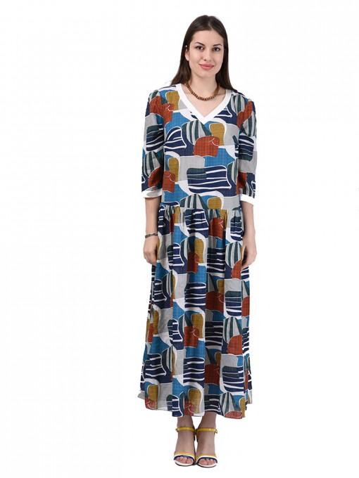 Платье мод. 3469 цвет Бирюзовый