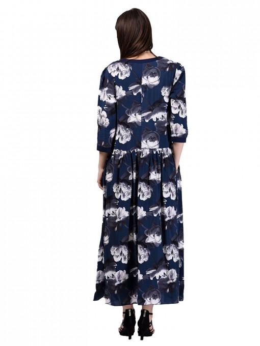 Платье мод. 3469 цвет Синий