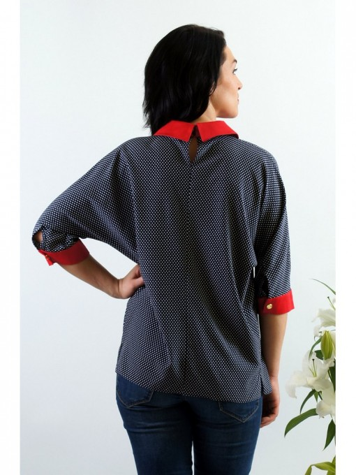 Блуза мод. 3502 цвет Горох