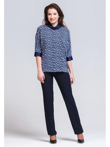 Блуза мод. 3503 цвет Синий