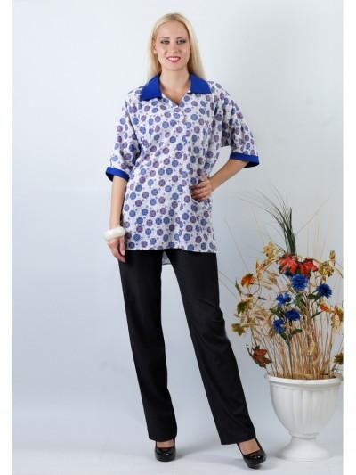 Блуза мод. 3506 цвет Синий