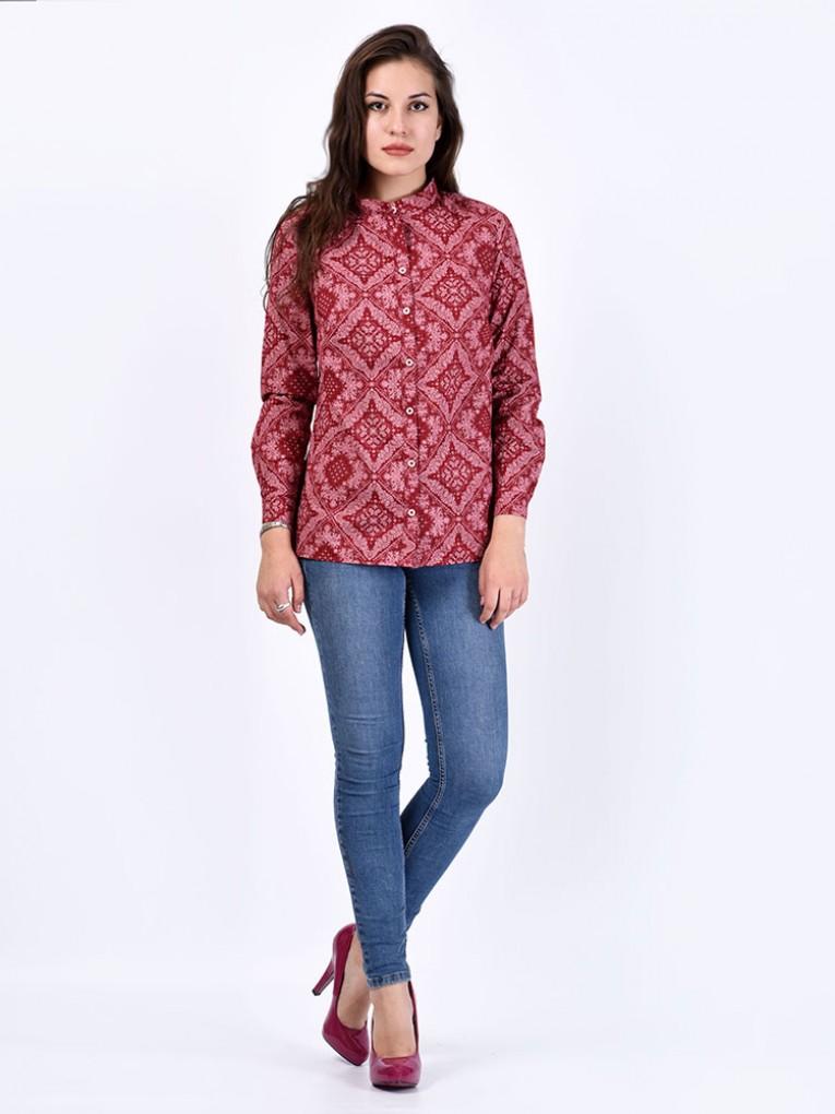 Блуза мод. 3518 цвет Бордовый
