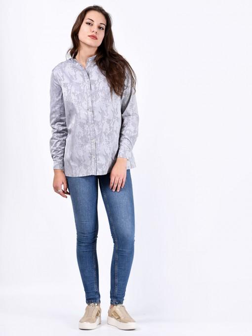 Блуза мод. 3518 цвет Серый