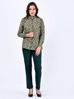 Блуза мод. 3518 цвет Оливковый