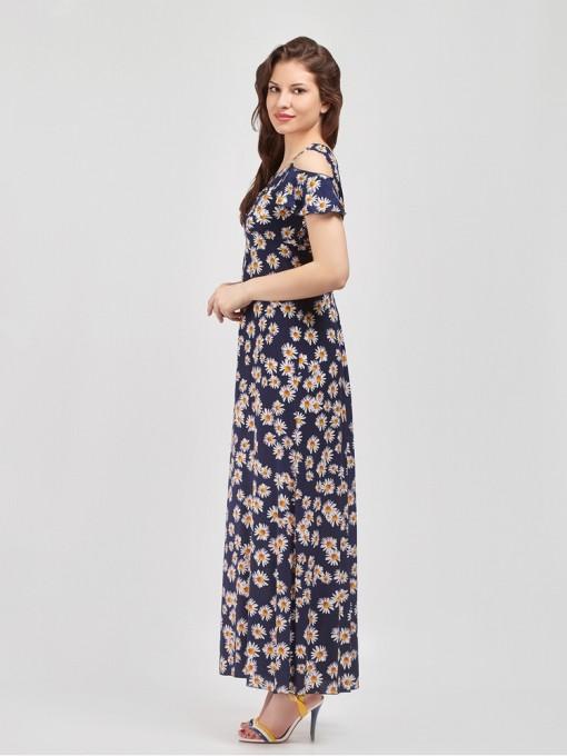 Платье мод. 3712-1 цвет Синий