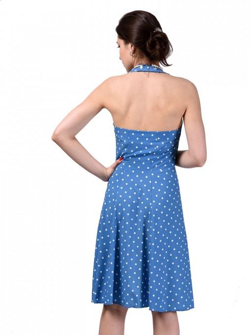 Сарафан мод. 3728 цвет Голубой