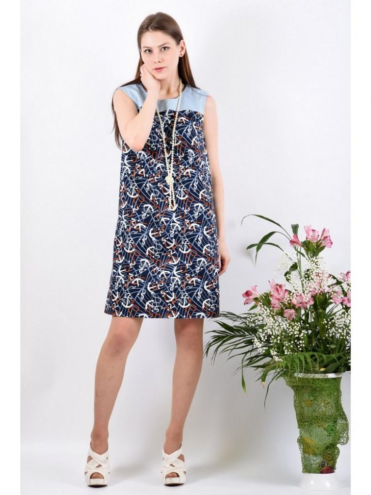Платье мод. 3731 цвет Синий