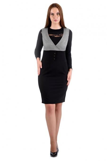 Платье мод. 3735 цвет Черный