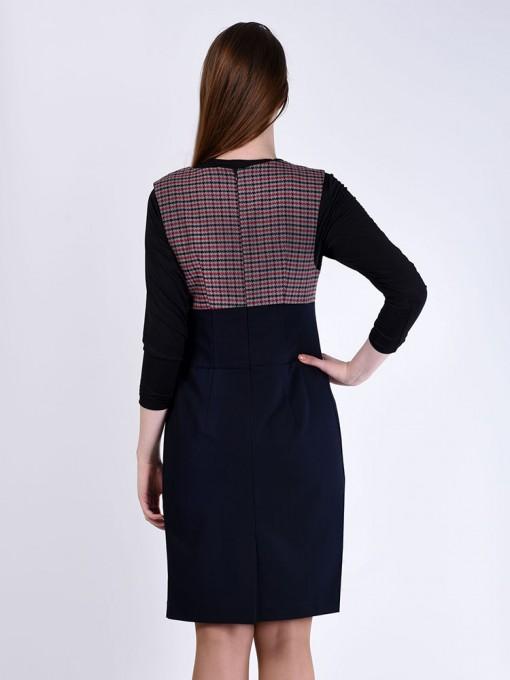 Платье мод. 3735 цвет Синий+бордовый