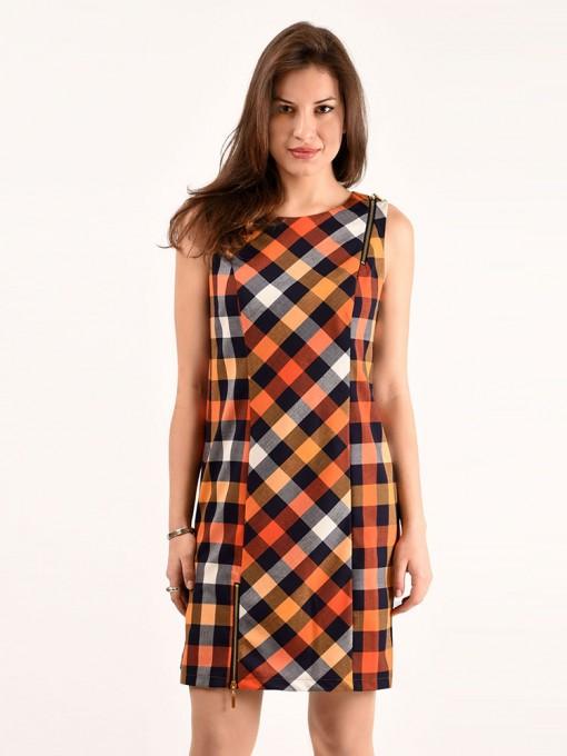 Платье мод. 3736 цвет Оранжевый