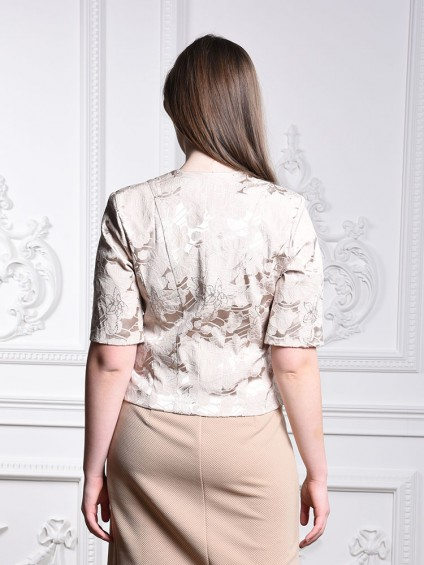 интернет магазин женской одежды,Жакет мод. 3802 Бежевый цвет,женская одежда оптом и в розницу