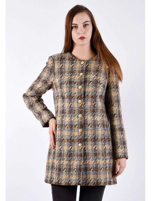 Пальто мод. 3817 цвет Коричневый
