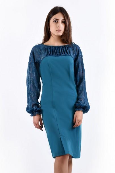 Платье мод. 445 цвет Бирюза