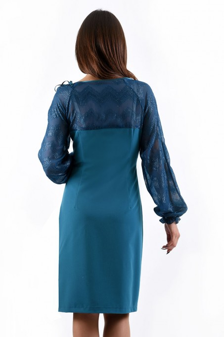 Платье мод. 445 цвет Бирюзовый