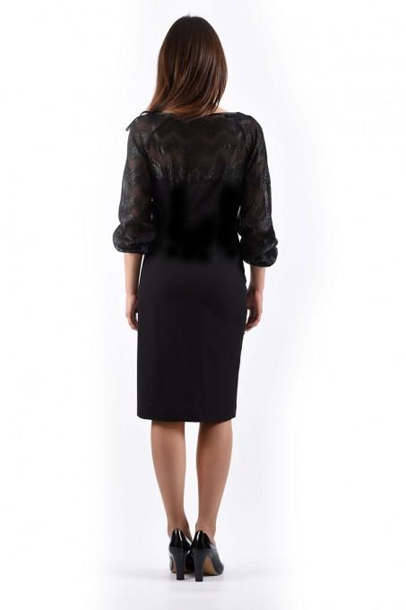 Платье мод. 445 цвет Черный