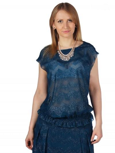 Блузка женская 4501 Бирюза ,интернет магазин женской одежды SHEGIDA
