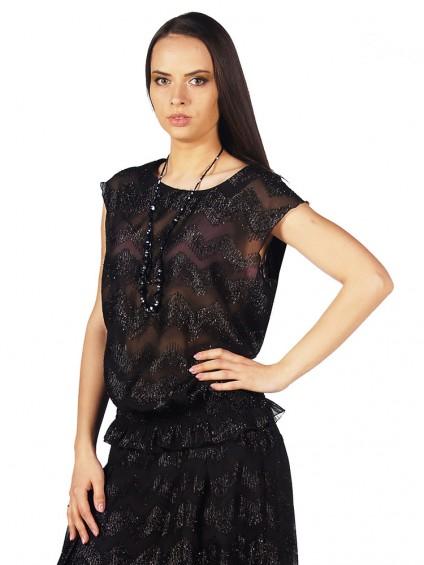 Блузка женская 4501 Чёрный ,интернет магазин женской одежды SHEGIDA