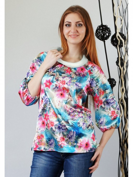Блуза мод. 4504-1 цвет Бирюза