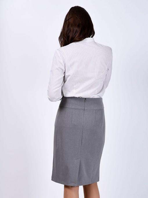 Юбка мод. 5301 цвет Серый