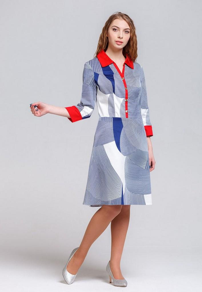 Платье мод. 5402-1 цвет Синий