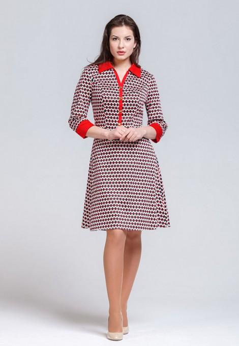 Платье мод. 5402-1 цвет Красный