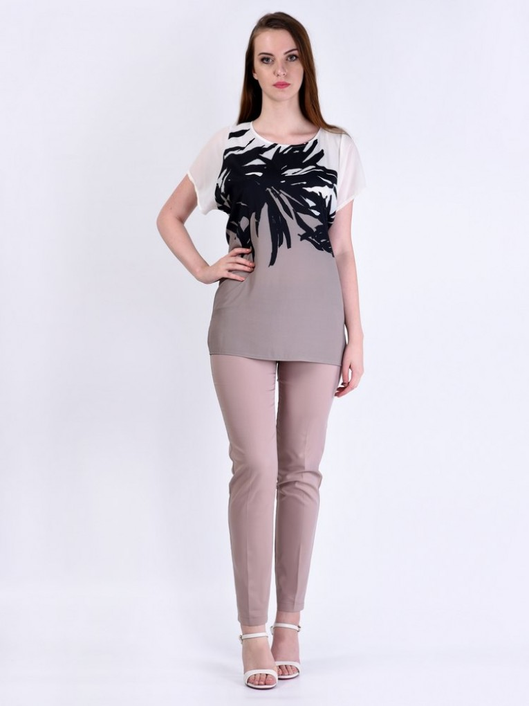 Блуза мод. 6402-1 цвет Кофейный