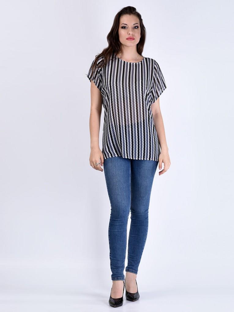 Блуза мод. 6402-1 цвет Серый