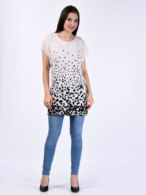 Туника мод. 6402-2 цвет Молочный