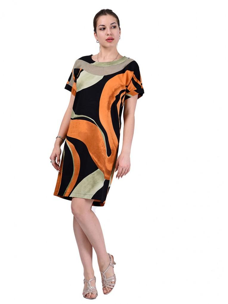 Платье мод. 6403 цвет Оранжевый
