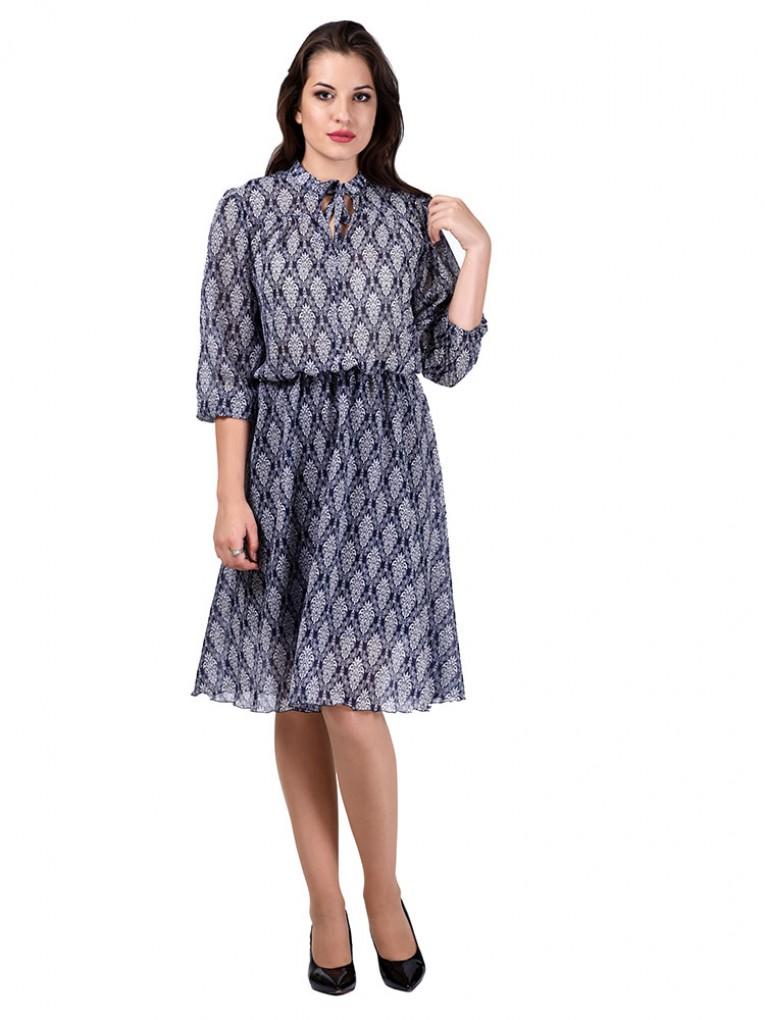 Платье мод. 6404 цвет Синий