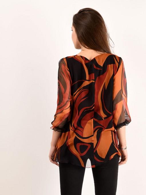 Блуза мод. 6505 цвет Оранжевый