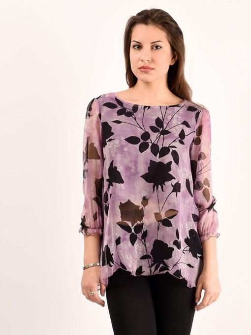 Блуза мод. 6505 цвет Сиреневый