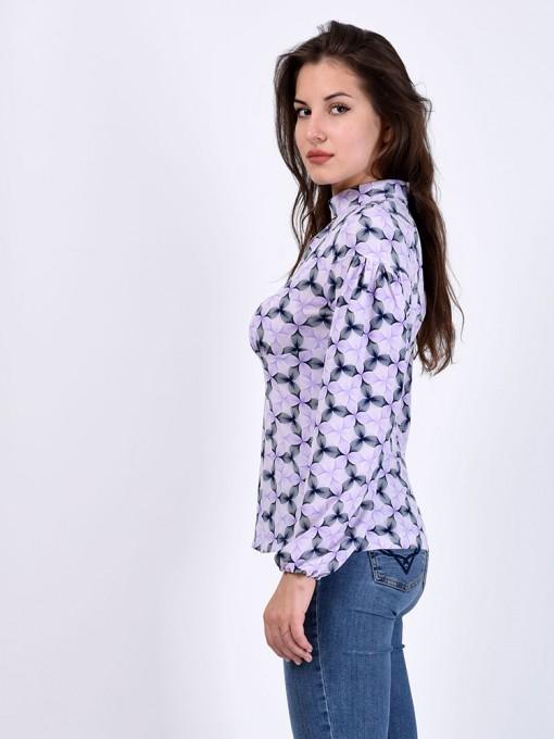 Блуза мод. 6507 цвет Сиреневый