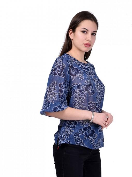 Блуза мод. 6510 цвет Синий
