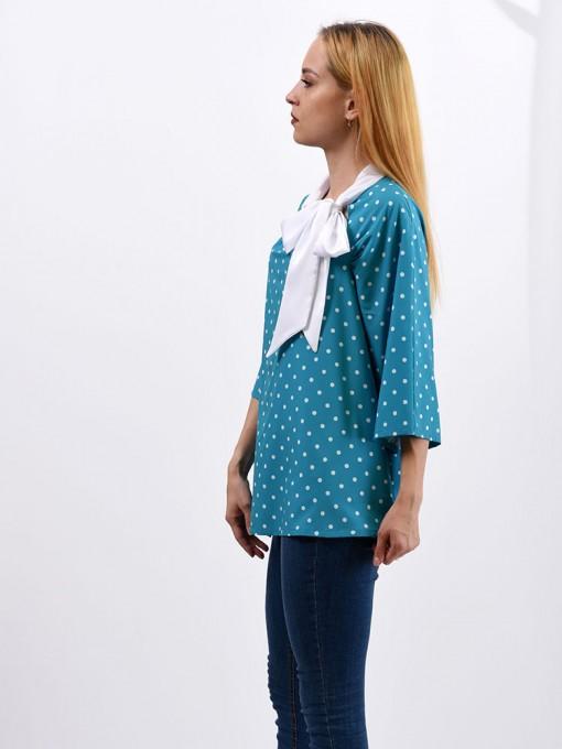 Блуза мод. 6514 цвет Бирюзовый