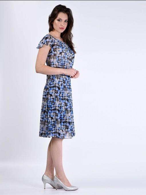 Платье мод. 6701-1 цвет Голубой