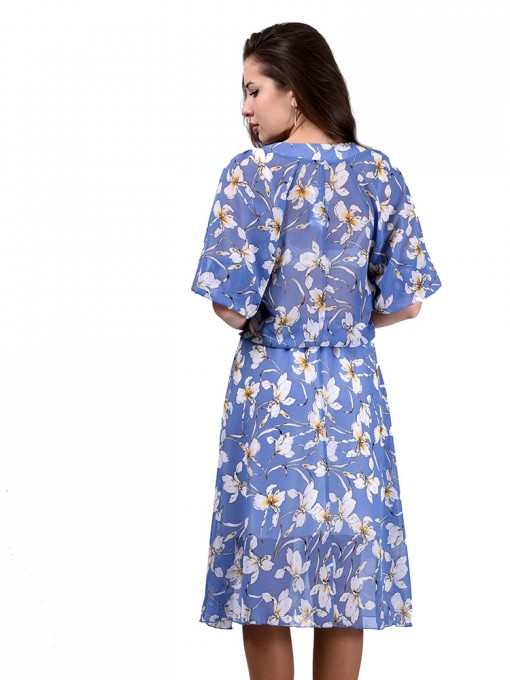 Платье мод. 6706 цвет Голубой