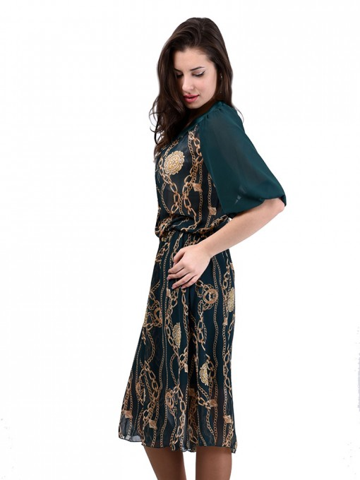 Платье мод. 6706 цвет Зеленый